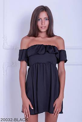 Жіноче коротке чорне плаття Alen