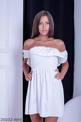 Жіноче коротке біле плаття Alen