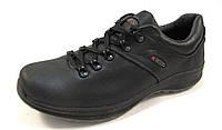 Туфли мужские ECCO кожаные, черные (еко)р.41