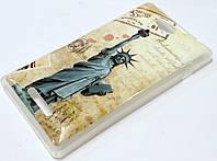 Чехол силиконовый с рисунком статуя свободы для Sony Xperia C C2305 s39h