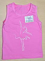 Майка для девочки на узких и широких лямках розовая
