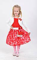 Шикарное детское платье красного цвета