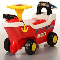Детская каталка-толокар Bambi Корабль Красный (HZ 606-3) музыкальная
