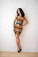 Платье - майка с украшением на талии 184 (МГ)