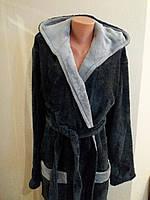 Мужской халат теплый махровый. Размеры 48-56, фото 1