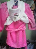 Махровый детский халат с ушками от 1 года до 3 лет