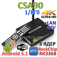 TV box CSA90 Rockchip RK3368 TV Box 8 ядер 1GB/8Gb Android 5.1