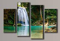 Картина модульная на холсте Водопад 5 70*102(4) см.