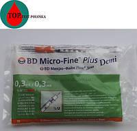 Шприц микро файн плюс  DEMI 0,3 мл 0,30 (30G)*8 мм 10 шт.