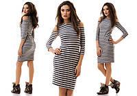 Женское платье с открытыми плечами 2040 ИК