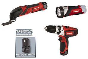 Акумуляторна дриль, реноватор, ліхтарик Einhell TE-TK 12 Li Kit