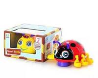 Музыкальная развивающая игрушка Жук 82721 ABCD, развивающий, весёлый жук, свет, музыка. Игрушка божья коровка