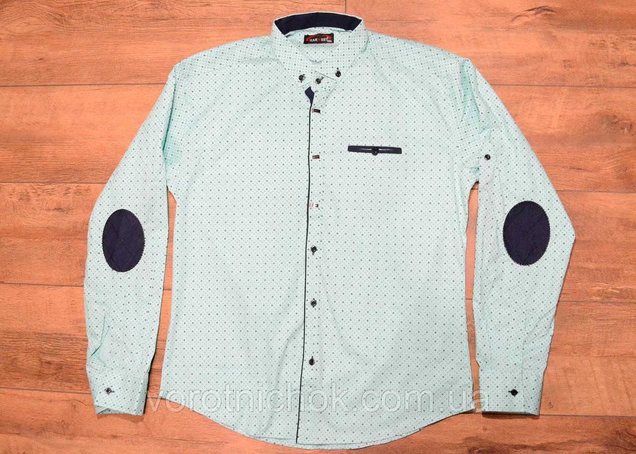 Стрейчевая мужская рубашка m- xxl размеры