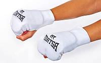Накладки (перчатки) для каратэ MATSA MA-0009-W (PL, хлопок, эластан, р-р XS-XL, белый)