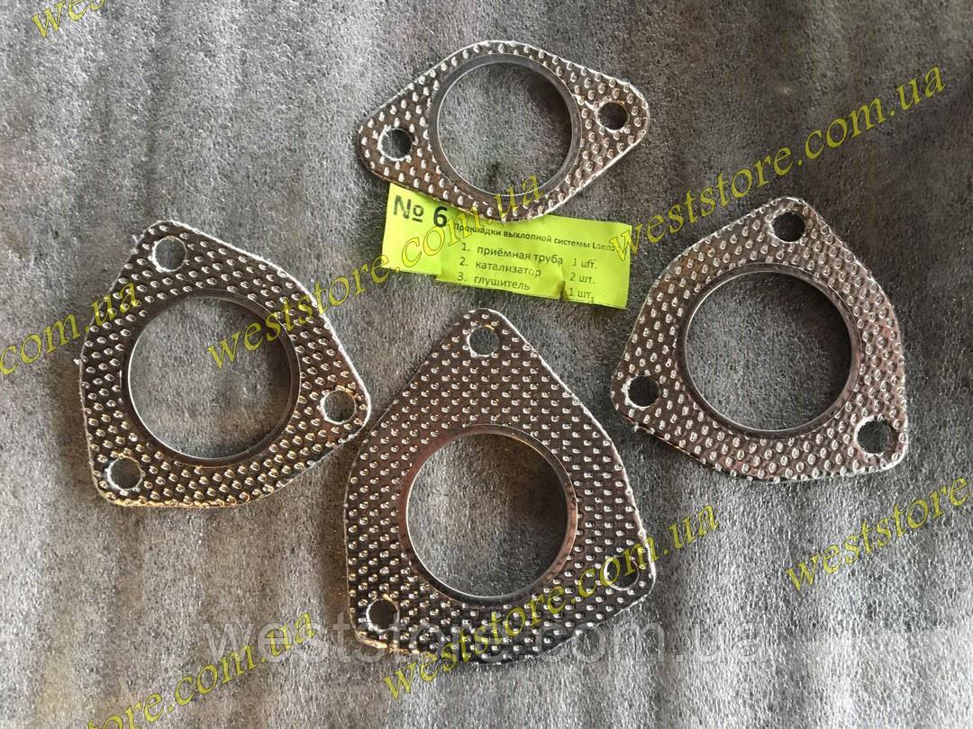 Ремкомплект №006 прокладки выпускной системы глушителя Ланос Lanos 1.5 (4шт)