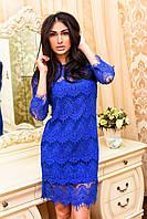 Платье гипюровое реснички 7073 Лаки