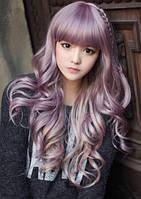 Парик волнистый светло-фиолетовый аниме косплей cosplay
