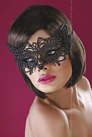 Кружевная маска карнавальная Модель №13 от Livia Corsetti (Польша) Цвет черный