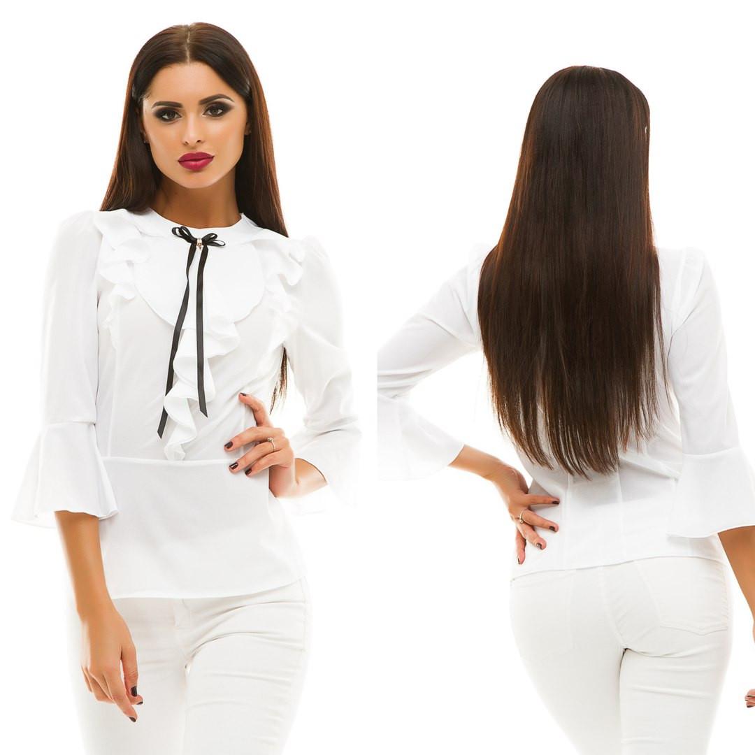Блуза шифоновая, размер 42,44,46,48  код 810А
