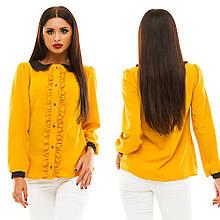 Блузка з довгим рукавом, розмір 42,44,46,48 код 812А
