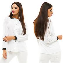 Блузка з довгим рукавом, розмір 42,44,46,48 код 812А, фото 2