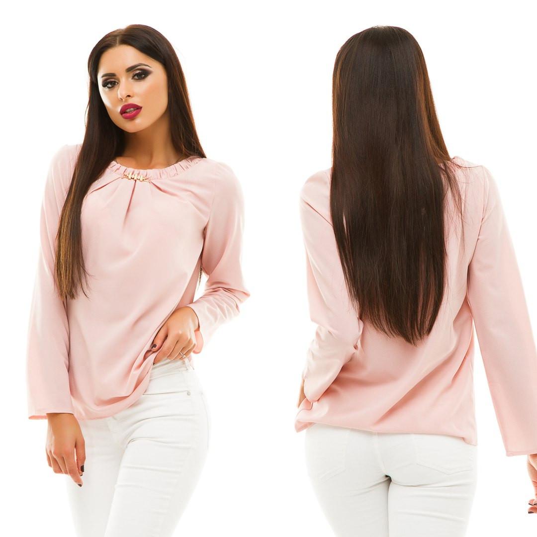 Блуза с длинным рукавом, размер 42,44,46,48  код 813А