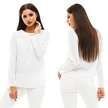 Блузка з довгим рукавом, розмір 42,44,46,48 код 813А, фото 2