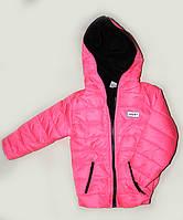 Куртка детская демисезонная Спорт флис малинового цвета, 1-5 лет