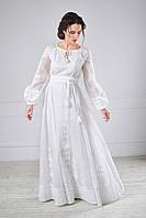 Сукня вишита білим по білому, фото 1
