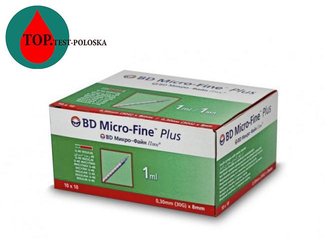 Шприцы микро файн u-40 1 мл 8 мм 100 шт.