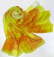 Яркий женский шарф-парео 180 на 90 dress 256_желт