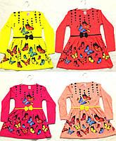 Нарядное платье с бабочками и стразами 2-5 лет