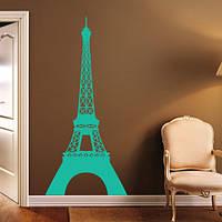 Наклейка интерьерная винил Эйфелева башня (атрибутика Франции в декоре, стикер самоклейка)