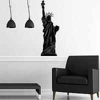 Наклейка декоративная из винила Статуя свободы (атрибутика США, достопримечательности в декоре)