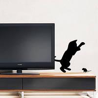 """Наклейка """"Котенок и мышонок"""""""
