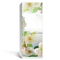Наклейка для холодильника Цветы вишни (пленка виниловая самоклеющаяся, вишневый цвет на холодильник)
