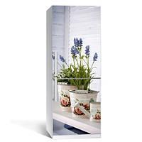 Наклейка на холодильник виниловая Стиль (лаванда на холодильнике, пленка самоклейка)