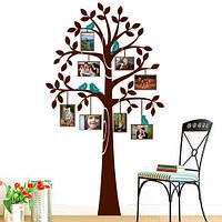 """Наклейка на обои """"Дерево с рамками 2"""""""