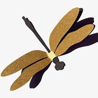 Декоративные золотые стрекозы (3д наклейки из дизайнерского картона)