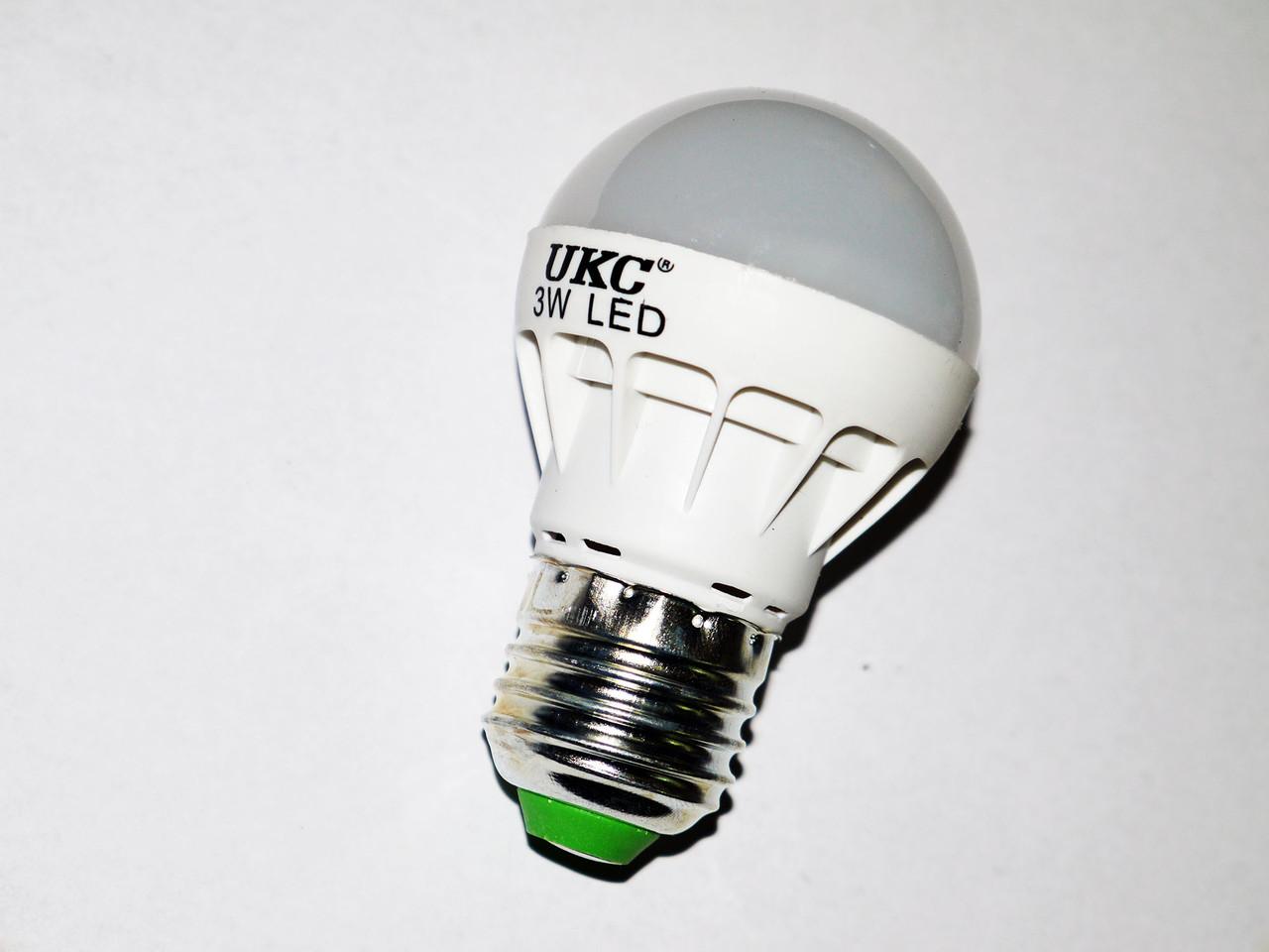Светодиодная лампа E27 3W UKC