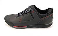 Туфли мужские спортивные ECCO кожаные, серые (еко)(р.44)