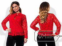 Гипюровая блуза с майкой. Большие размеры. Разные цвета.