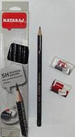 Карандаши чернографитные NATARAJ drawing pencils разной твердости