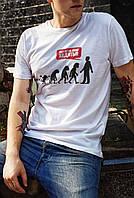 """Мужская футболка """"Хватит за мной ходить"""""""