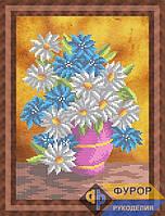 Схема для вышивки бисером - Букет полевых цветов в вазе, Арт. НБч4-89