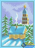 Схема для полной вышивки бисером - Зимний вечер, Арт. ДБп5-048