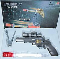 Пистолет на батарейках, свет, звук, в коробке
