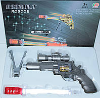 Пистолет на батарейках, свет, звук, в коробке, фото 1