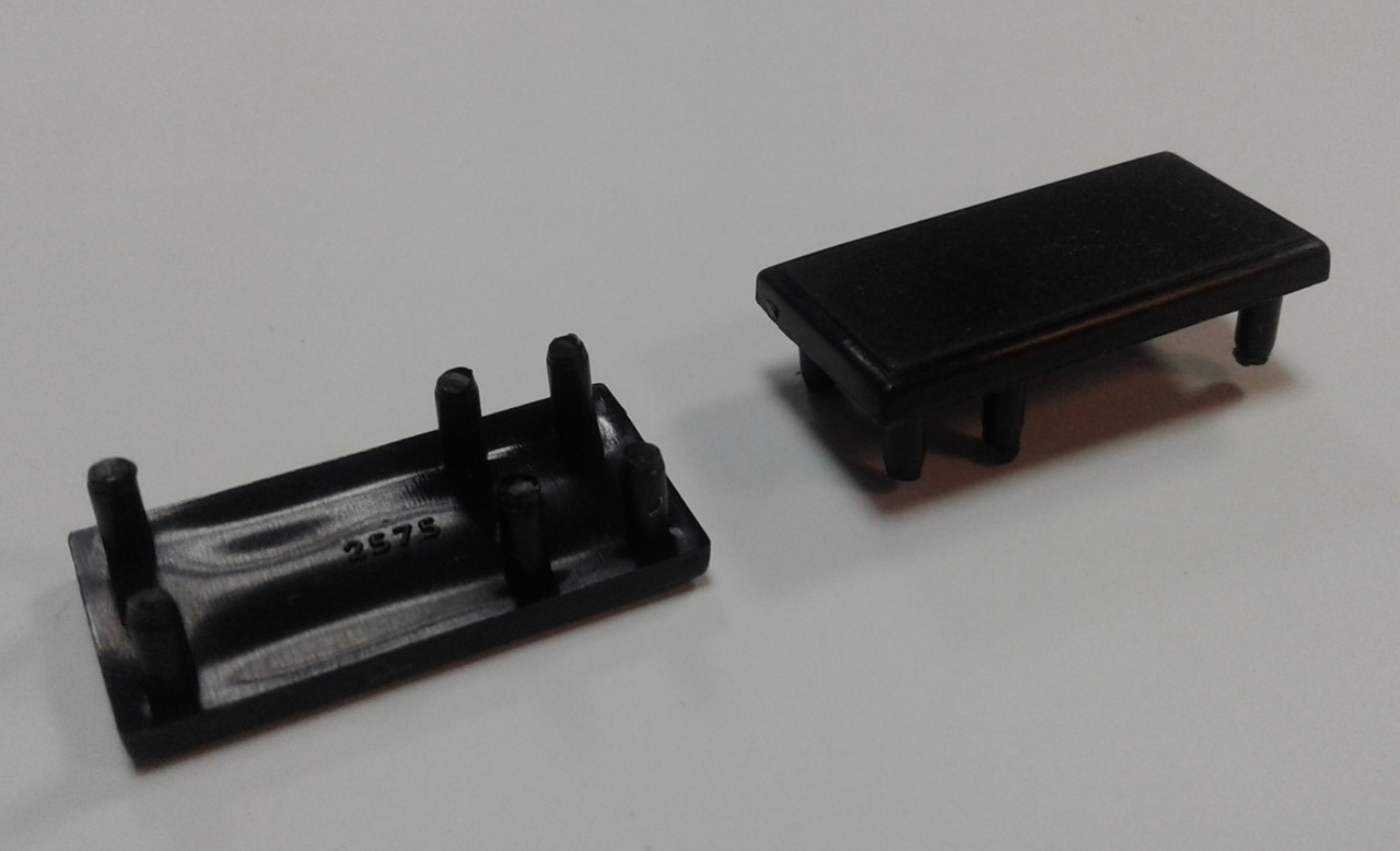 Заглушка торцевая для торгового  профиля. Модель 2575