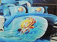 Комплект постельного белья сатин евро  3d